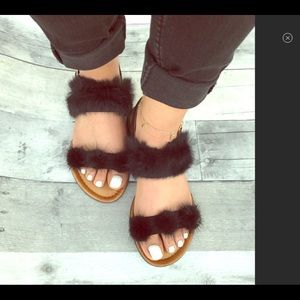 Forever Women's Kindly-14 Furry Straps
